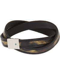 Tateossian | Xxv Anniversary Leather Wrap Bracelet, Men's, Brown | Lyst
