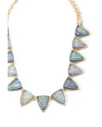 Forever 21 - Blue Geo Faux Gemstone Statement Necklace You've Been Added To The Waitlist - Lyst