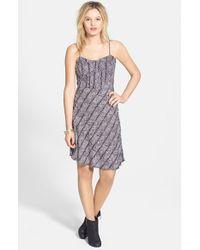 Volcom | 'black Rose' Print Dress | Lyst