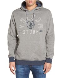 Volcom | Gray 'taboose' Pullover Hoodie for Men | Lyst