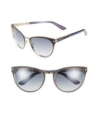 Tom Ford - Blue 'nina' 56mm Sunglasses - Lyst