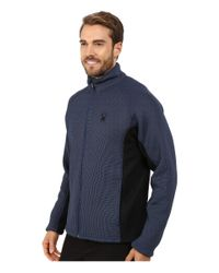 Spyder - Black Foremost Full Zip Heavy Weight Core Sweater for Men - Lyst