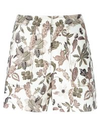 Tory Burch - Natural Floral Print Shorts - Lyst