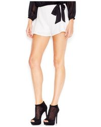 Guess | White Mid-rise Shorts | Lyst