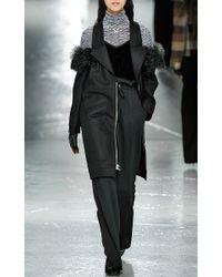Rodarte - Black Glitter Silk Velvet Camisole - Lyst