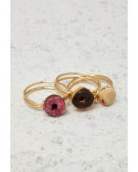 Forever 21 | Metallic Janes Tiny Things Donut Midi Ring Set | Lyst