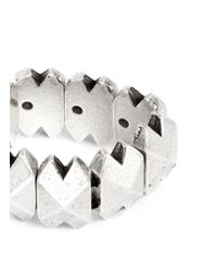 Philippe Audibert | Metallic 'connor' Metal Spike Elastic Ring | Lyst