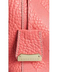Burberry | Pink The Small Canter Bonded-Leather Bag | Lyst