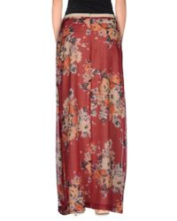 Jucca - Red Long Skirt - Lyst