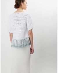 Wool And The Gang | White Love Train Top | Lyst