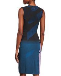Prabal Gurung - Blue Sleeveless Colorblock Sheath Dress - Lyst