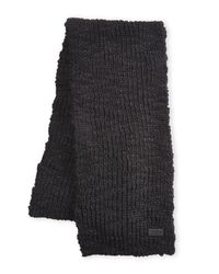 John Varvatos - Black Knit Scarf for Men - Lyst