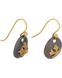 Sara Weinstock | Metallic Diamond and Gold Maltese Cross Sterling Silver Drop Earrings | Lyst