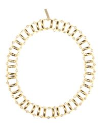 Balenciaga | Metallic Chain Track Necklace | Lyst