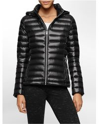 Calvin Klein - Black White Label Lightweight Packable Hooded Down Jacket - Lyst