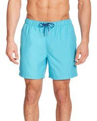 Original Penguin   Blue Solid Volley Swim Trunks for Men   Lyst