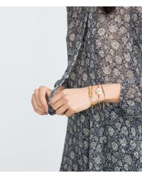 Zara | Brown Eye, Chain And Stones Bracelets | Lyst
