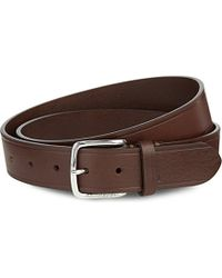 J.Lindeberg | Brown Chap 35 Classic Leather Belt - For Men for Men | Lyst