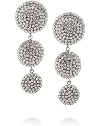 Elizabeth Cole - Metallic Hematite-Plated Swarovski Crystal Earrings - Lyst