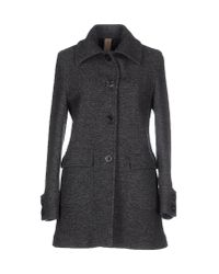 Eleventy - Gray Coat - Lyst