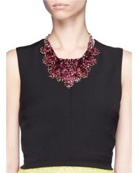 Valentino - Red Crystal Embellished Satin Backing Choker - Lyst