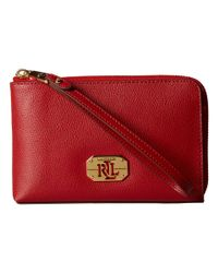 Lauren by Ralph Lauren - Red Whitby Large Wristlet - Lyst