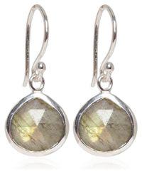 Dinny Hall | Metallic Silver Labradorite Jaipur Drop Earrings | Lyst
