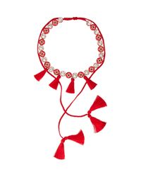 Shourouk | Red Sautoire Amerindien Necklace | Lyst