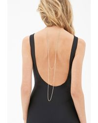 Forever 21 - Metallic Draped Chain Wire Choker - Lyst