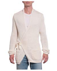 Laneus - Natural Cotton Bend Cardigan for Men - Lyst