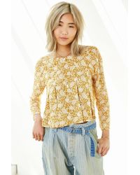 Kimchi Blue - Brown Canyon Popover Top - Lyst