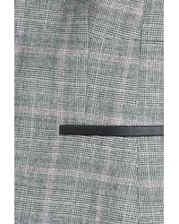 HUGO - Gray Wool-blend Checked Blazer - Multicolor - Lyst