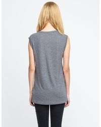 T By Alexander Wang - Gray Classic Muscle Tee - Lyst
