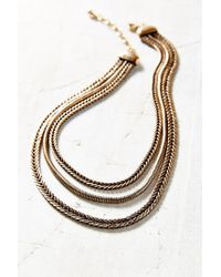 Urban Outfitters | Metallic Heavy Metal Layer Chains Necklace | Lyst