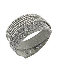 Swarovski | Gray Slake Mixed-media Crystal Wrap Bracelet | Lyst