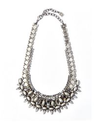 DANNIJO | Metallic Silver Scott Swarovski Statement Necklace | Lyst