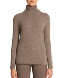 Lafayette 148 New York - Brown Cashmere Turtleneck Sweater - Lyst
