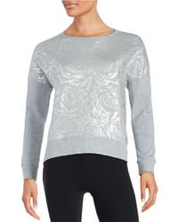 Betsey Johnson | Metallic Floral Embossed Sweatshirt | Lyst