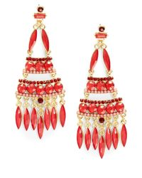 Catherine Stein | Red Marquis Chandelier Earrings | Lyst