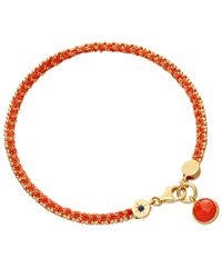 Astley Clarke | Pink Coral Woven Biography Bracelet | Lyst