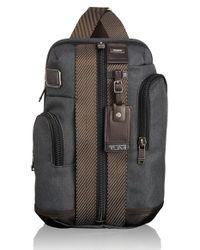 Tumi - Gray 'alpha Bravo - Monterey' Sling Bag for Men - Lyst