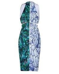 Dion Lee | Multicolor Silk Reverse Terrain Locked Sheath | Lyst