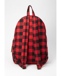 Forever 21 - Red Classic Plaid Backpack - Lyst