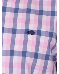 Raging Bull - Pink Voile Check Short Sleeve Button Down Shirt for Men - Lyst