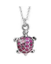 Jan Leslie | Pink Enamel Turtle Pendant / Charm Necklace | Lyst