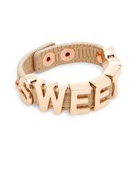 BCBGeneration | Metallic 'sweet' Strap Bracelet | Lyst