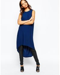 Daisy Street | Blue Maxi Tunic With Side Splits | Lyst