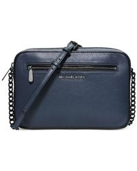 Michael Kors | Blue Michael Jet Set French Binding East West Small Crossbody | Lyst