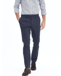 Banana Republic | Blue Skinny Corded Twill Dress Pant for Men | Lyst