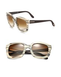 Tom Ford - Natural Christophe Oversized Square Sunglasses - Lyst